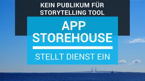Storytelling-Tool Storehouse stellt den Dienst ein